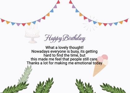 birthday card 89 plant flyer