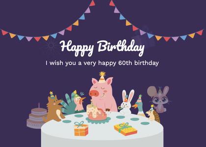 birthday card 91 poster advertisement