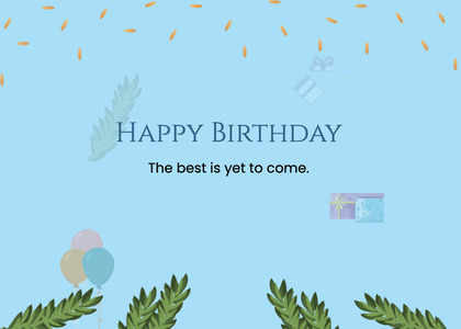birthday card 94 paper plant