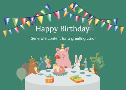 birthday card 97 advertisement poster