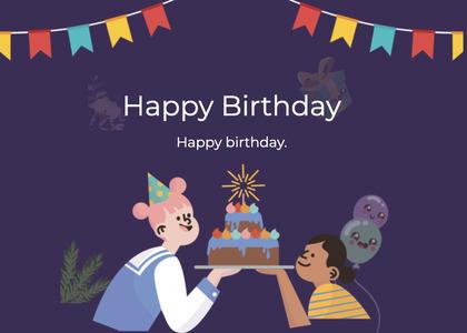 birthday card 99 person human
