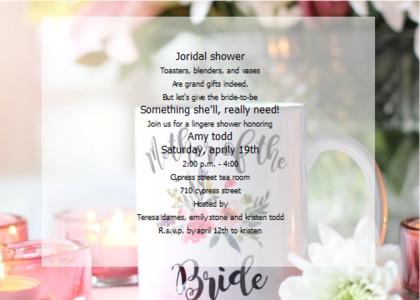 bridalsshower card 11 text flyer