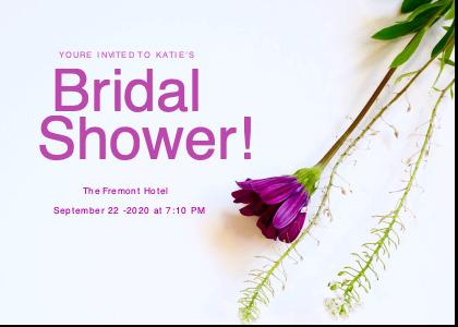 bridalsshower card 3 plant petal
