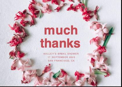 bridalsshower card 4 petal plant