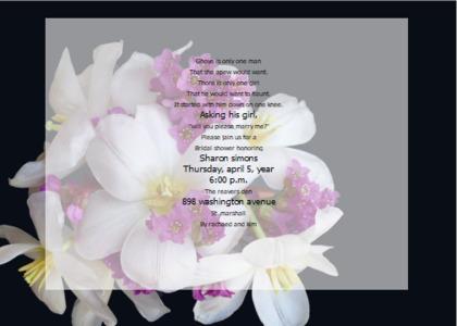 bridalsshower card 7 plant flower
