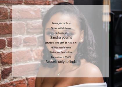 bridalsshower card 9 person human