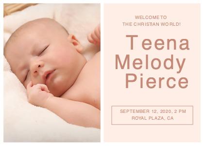 christening card 1 newborn person