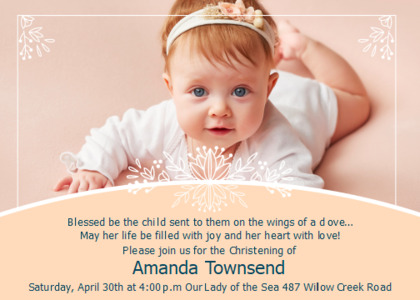 christening card 10 advertisement poster