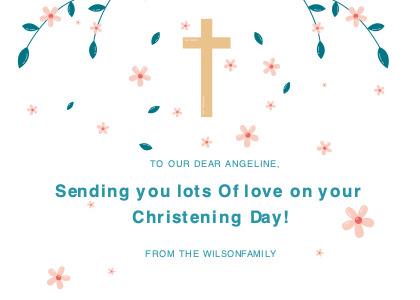 christening card 2 paper confetti