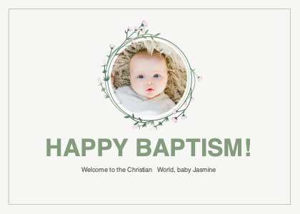 christening card 4 person text