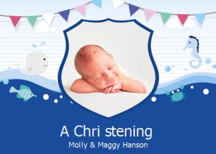 christening card 7 newborn person