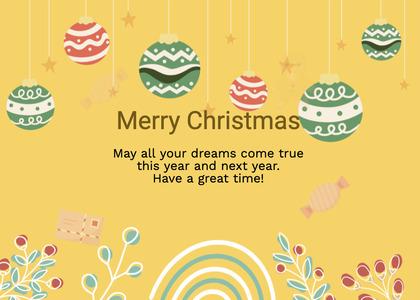 christmas card 104 text diwali