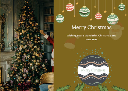 christmas card 106 christmastree tree