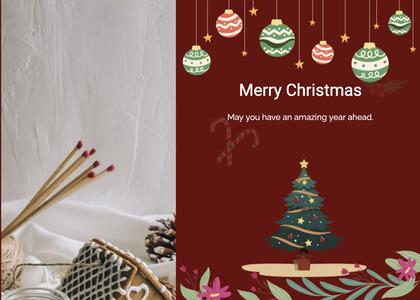 christmas card 107 tree plant