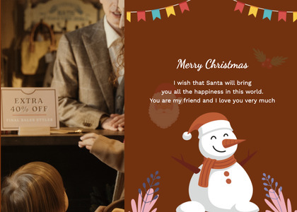 christmas card 108 person poster