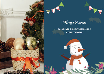 christmas card 109 tree plant