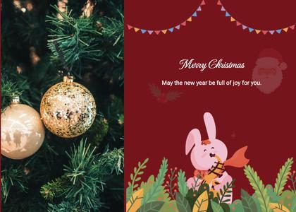 christmas card 111 tree plant