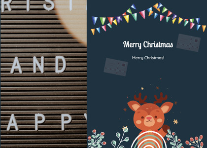christmas card 115 poster advertisement