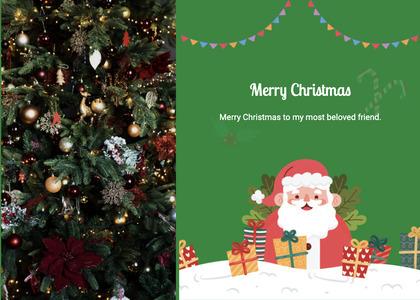 christmas card 119 christmastree tree