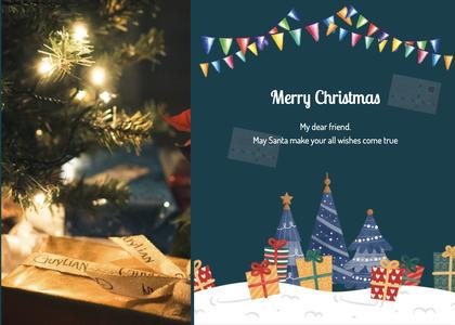christmas card 122 tree plant