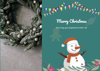 christmas card 123 snowman nature