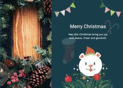 christmas card 124 poster advertisement
