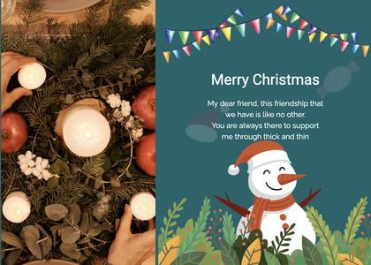 christmas card 127 tree plant