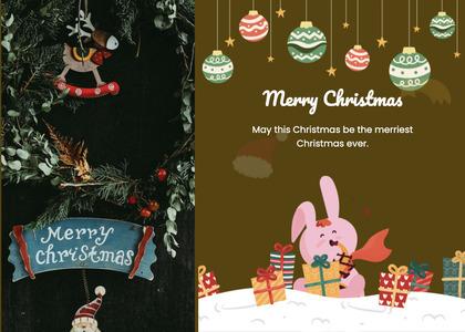 christmas card 128 poster advertisement
