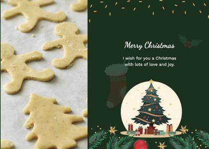 christmas card 129 food plant
