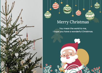 christmas card 130 tree plant
