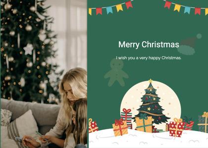 christmas card 134 tree plant
