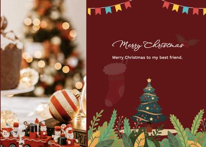 christmas card 137 tree plant