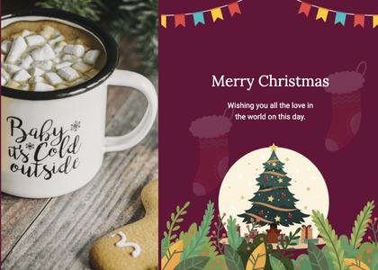 christmas card 138 plant tree