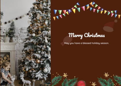 christmas card 139 tree plant
