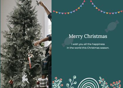 christmas card 141 tree plant