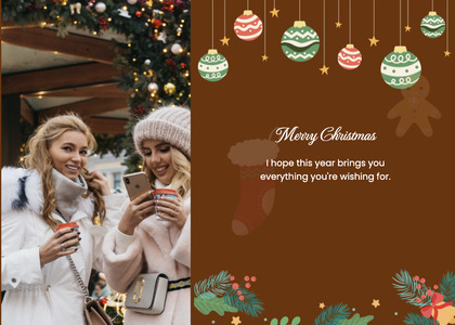 christmas card 144 person mobilephone