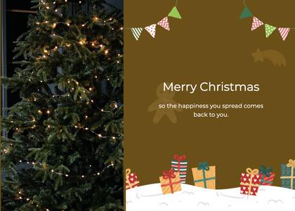 christmas card 146 christmastree tree