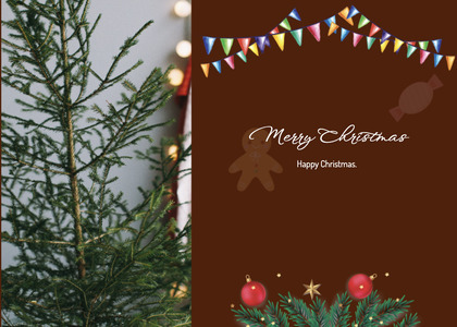 christmas card 147 tree plant