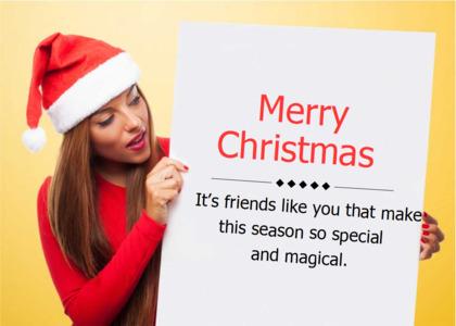 christmas card 15 face person