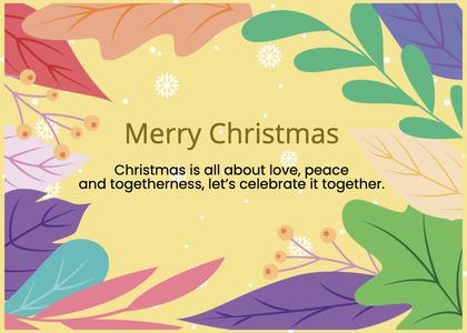 christmas card 163 graphics art