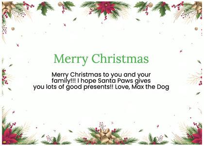 christmas card 179 graphics envelope