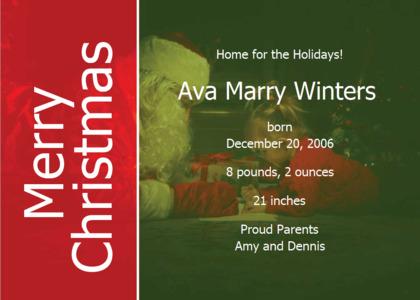 christmas card 19 text flyer