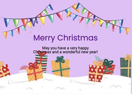 christmas card 190 paper temptag