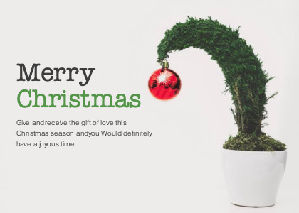 christmas card 2 plant tree