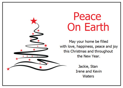 christmas card 20 text label