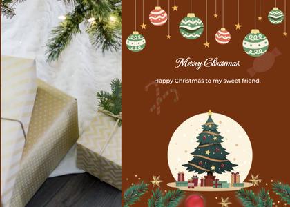 christmas card 21 tree plant