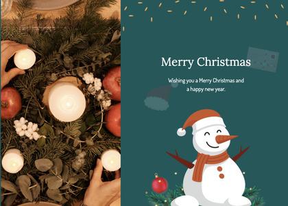 christmas card 23 snowman nature