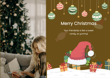 christmas card 24 person human