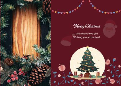 christmas card 25 tree plant