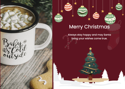 christmas card 26 plant tree